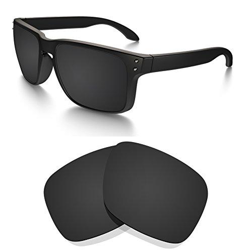 Littlebird4 polarisierte Ersatzgläser für Oakley Holbrook Sonnenbrillen, 1,5 mm, Verschiedene Optionen, Herren, Dark Black