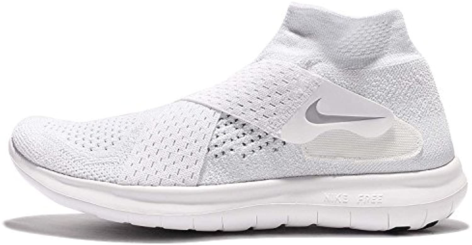Nike W Free RN Motion FK 2017, Zapatillas de Trail Running para Mujer, Blanco (White/Wolf Grey/Pure Platinum/Volt...