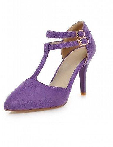 ShangYi Chaussures Femme-Mariage / Bureau & Travail / Soirée & Evénement-Noir / Rose / Violet-Talon Aiguille-Talons-Talons-Similicuir Pink