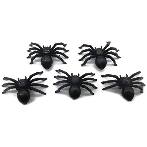 PQZATX Schwarze Spinnen Grusel Halloween Swag Spielzeug Straeusel, Typ 3-100 Stück
