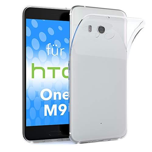 EAZY CASE Hülle für HTC One (M9) Schutzhülle Silikon, Ultra dünn, Slimcover, Handyhülle, Silikonhülle, Backcover, Durchsichtig, Klar Transparent