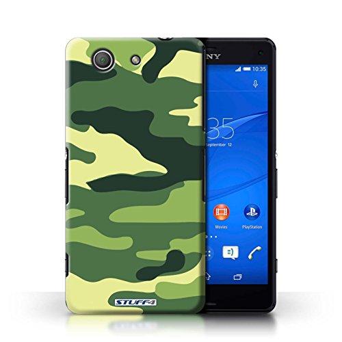 Kobalt® Imprimé Etui / Coque pour Sony Xperia Z3 Compact / Rose 4 conception / Série Armée/Camouflage Vert 2