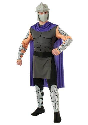 Kostüm Shredder Ninja Turtles Erwachsene, grau (Maske Kostüm Shredder)