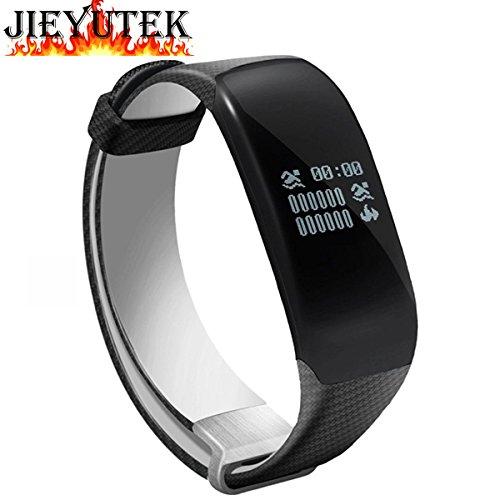 Jieyutek H5Reloj inteligente, IP68,resistente al agua, monitor de frecuencia cardiaca, Bluetooth, pulsera...