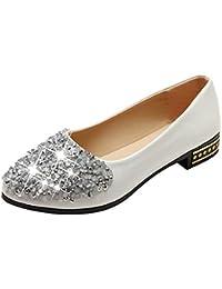Zapatos Flats señalaron Toe Slip en Mocasines de Zapatos de Diamante de imitación Ballet Zapatos Damas