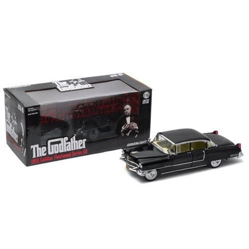 Greenlight 1:18 Collectibles 1955 The Godfather Cadillac Fleetwood Series 60 Special Die-Cast Vehicle Black 129