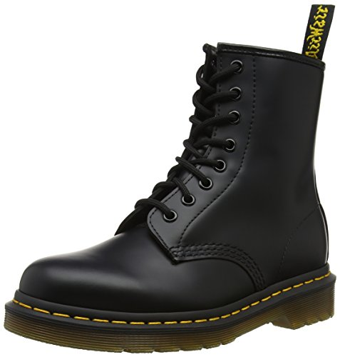 Dr. Martens 1460 - Botas Militares de Mujer, Negro (Black Smooth Leather), 44 EU
