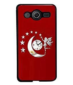 PrintVisa Designer Back Case Cover for Samsung Galaxy Core I8260 :: Samsung Galaxy Core Duos I8262 (Red White Women Young Modern Art Illustration Decoration Card Portrait)