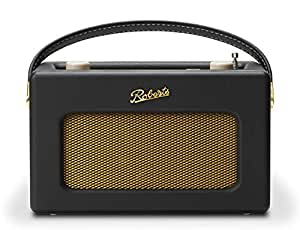 Roberts Radio Retro DAB/DAB+ FM Wireless Portable Digital Bluetooth Radio Alexa Voice Controlled Smart Speaker Revival iStream 3 - Black
