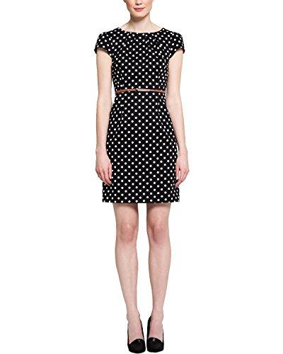 Comma 85.899.82.0081 - Robe - Manches Courtes - Femme Noir (Grey/Black Dots 99M2)
