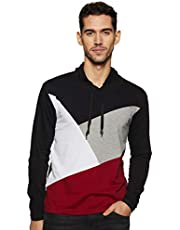 Cenizas Men's Hooded Full Sleeves Round Neck Tshirt/T-Shirt