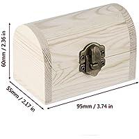 Preisvergleich für Ballylelly Handarbeit Holz Barren Schmuck Box Base Art Decor DIY Holz Handwerk sammeln (Farbe: Holz Farbe)