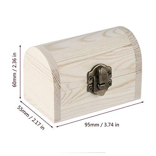 Ballylelly Handiwork in legno lingotti scatola di gioielli Base Art Decor Artigianato in legno fai da te raccogliere (Colore: colore del legno)