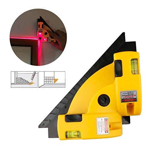 A-szcxtop Rechtwinklig 90 Grad Laser Level Messmessgerät Square Vertical Horizontal Ausrichtung Laser Line Projektion Guide Tool für Home Outdoor Layout Tool W/ Two Bubble Vials