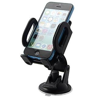 gtide auto-smart 360Grad drehbar Auto Windschutzscheibe Halterung TomTom Armaturenbrett Wiege für iPhone 6Plus/iPhone 6/iPhone 5/Galaxy S4/S3//S2/HTC Retail packaging-black