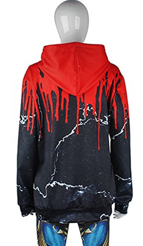 Belsen Damen Lange Ärmel Kapuzenpullover Sweatshirts Shot aliens