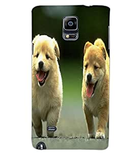 SAMSUNG GALAXY NOTE 4 PUPPIES Back Cover by PRINTSWAG