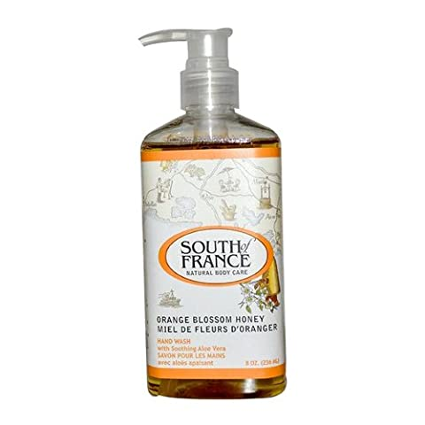 South Of France Liquid Soap, Orange Blossom Honey, 8 Fluid Ounce by South of France