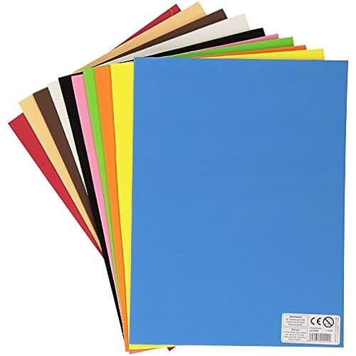 goma eva kawaii Carchivo 133314 - Pack de 10 laminas de goma Eva, 22 x 29.5 cm, multicolor