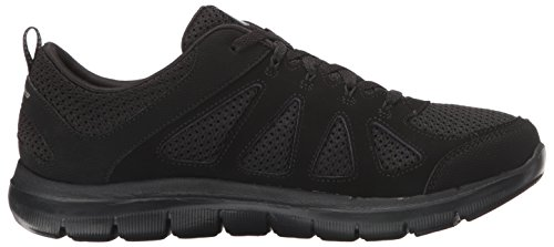 Skechers Flex Appeal Sneaker Simpliste, Noir, Noir Us