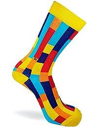 The Moja Club Socks - Vertical Tube Pattern - Multicolor