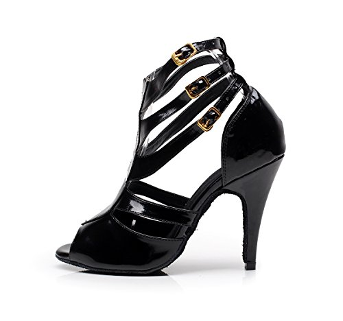 Miyoopark , Salle de bal femme Synthetic-Black-10cm Heel