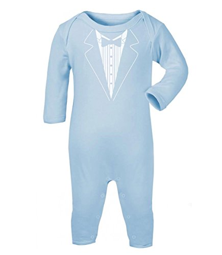 Green Turtle T-Shirts Hochzeit Tuxedo Hellblau 12-18 Baby Strampler Strampelanzug (Halloween-kostüme Nette Twin Baby)