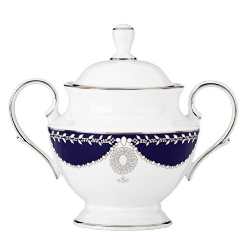 Lenox Marchesa Empire Sugar Bowl, Pearl Indigo Fine China Sugar Bowl