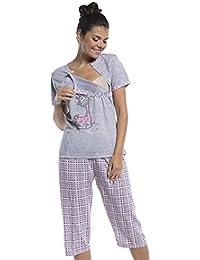 Zeta Ville - Umstands Still-Pyjama kurzen Ärmeln gekürzte Hosen - Damen - 173c