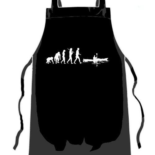 Standard Edition v2 Kajak I Kanu Rudern Paddeln Evolution Grillschürze Küchenschürze Gastroschürze Schwarz