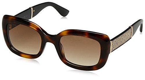 Jimmy Choo Damen VINNY/S S1 16Y 51 Sonnenbrille, Schwarz (Hvn Glttrblk/Brown Sf),