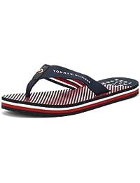 167dd519ff69f Tommy Hilfiger Mujer Midnight Azul Marino Essential Stripe Beach Chanclas