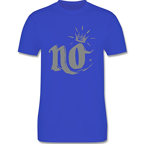 Statement Shirts - Nö Krone - Herren Premium T-Shirt Royalblau