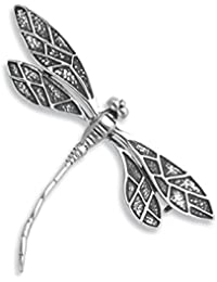 e52ae367f Sterling Silver Dragonfly Brooch - Size  34mm x 49mm. Gift Boxed - good  sized