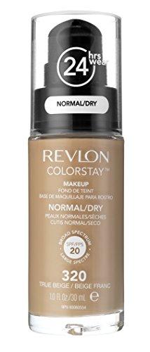 Revlon - ColorStay - Fond de Teint - Flacon 30 ml - Dry Skin - N320 - True Beige - Lot de 2