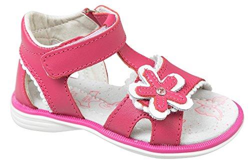 GIBRA® Sandales en cuir pour bébé et tout-petit Rose Taille 20–25 Rose - Rose