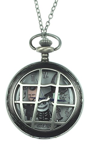 The Nightmare Before Christmas Lock Shock corpo Orologio da tasca collana