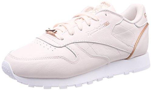 Reebok Damen Classic Leather Hardware Gymnastikschuhe, Pink (Pale Pinkwhiterose Gold), 40.5 EU (Reebok Classic Turnschuhe)
