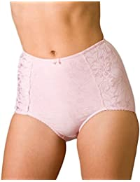 c43a146a2158f Camille Womens Ladies Serenity Jacquard Light Control Shapewear Support  Briefs Pink Size 10-24