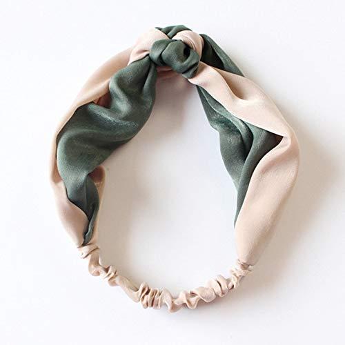 TSEINCE Mädchen Stirnband Armbrust Haarbänder Vintage Ribbon Head Wear Haarspangen für Frauen Hellrosa und grün