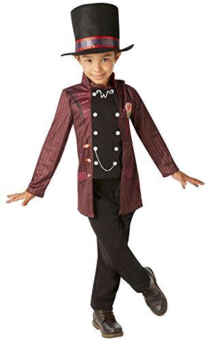 Willy Wonka - Charlie und die Schokoladen Fabrik- Kinder Kostüm - Klein - 104cm - Alter 3-4 (Kostüm Schokolade Fabrik)