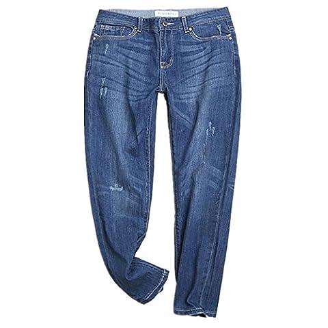 Byjia Jeans Damen Jeans Stretch Skinny Riss Distressed Volltonfarbe Lässig