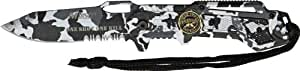 Mtech Sniper Snow Camo Linerlock Couteau