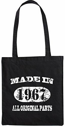 Mister Merchandise Tote Bag Made in 1967 All Original Parts 48 49 Borsa Bagaglio , Colore: Nero Nero