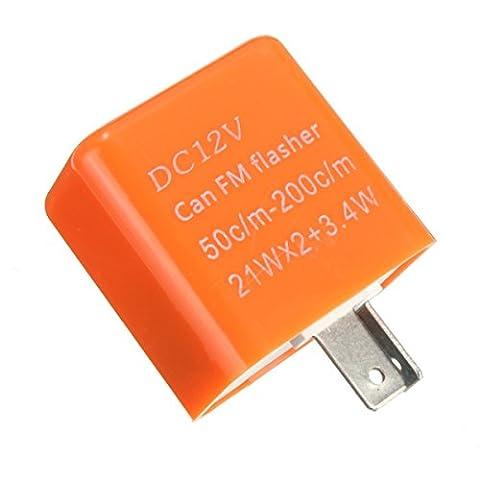 vitesse reglable LED flash - SODIAL(R)2 Pin Voiture Moto LED