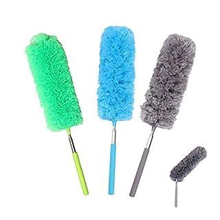 Duster de Microfibres,Plumeau Poussière 3 pièces Lavable Bendables Brosse à Poussière avec Poteau Extensible pour la Maison le Bureau et les Voitures