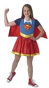 DC Comics - Disfraz de Supergirl oficial para niña, infantil 5-6 años (Rubie