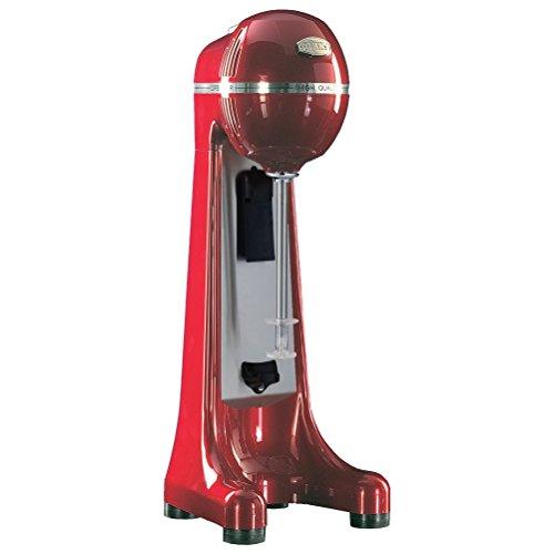 Johny AK/5-5T-RAL-PR-R - Batidora de bebidas de 2 velocidades (para hacer frappe - frapiera), con vaso de acero inoxidable, fabricada en Grecia, rojo