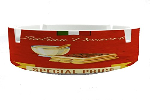 Ashtray Retro Italian dessert printed
