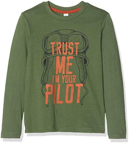 ESPRIT KIDS Jungen T-Shirt RM1019409, Grün (Olive 580), (Herstellergröße:116+)